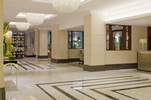 Entrance Areas and Hotel Lobbies cleaned by SoClean